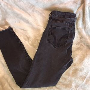 Black Hollister crop high rise jeans